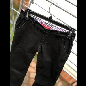 Unionbay Black Mid Rise Bootcut Stretch Pants
